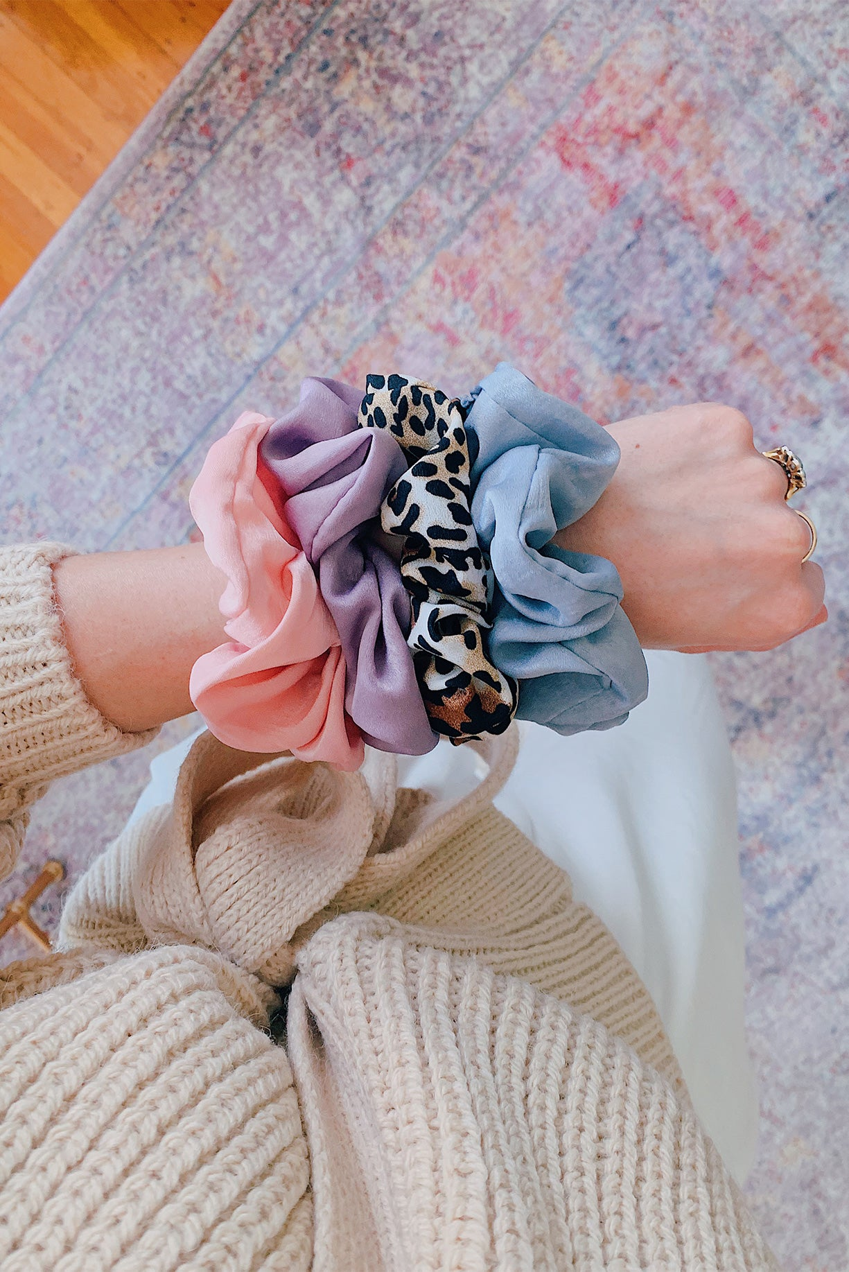 Pastel Silk Hair Scrunchies from Sweet & Spark