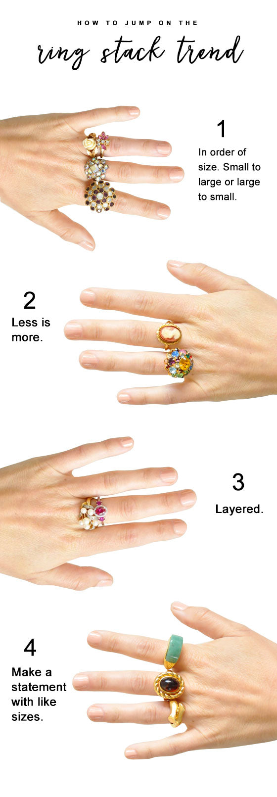 How to Create a Vintage Ring Stack!