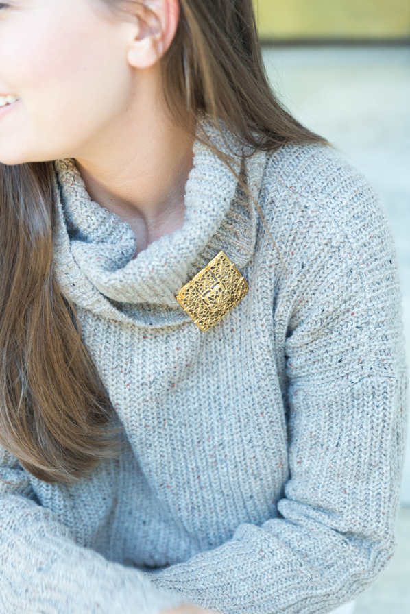 How to Wear a Vintage Brooch- Sweet & Spark