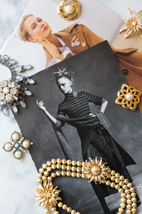 Vintage Brooches for Fall 2015