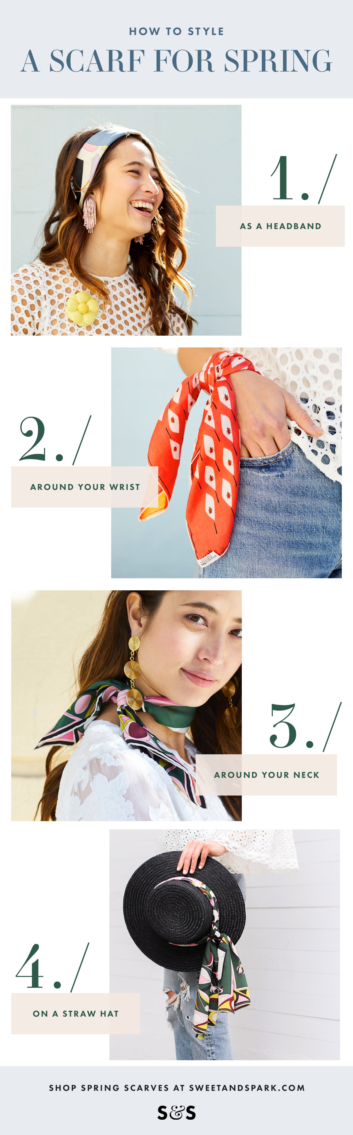 How To Style A Vintage Scarf For Spring