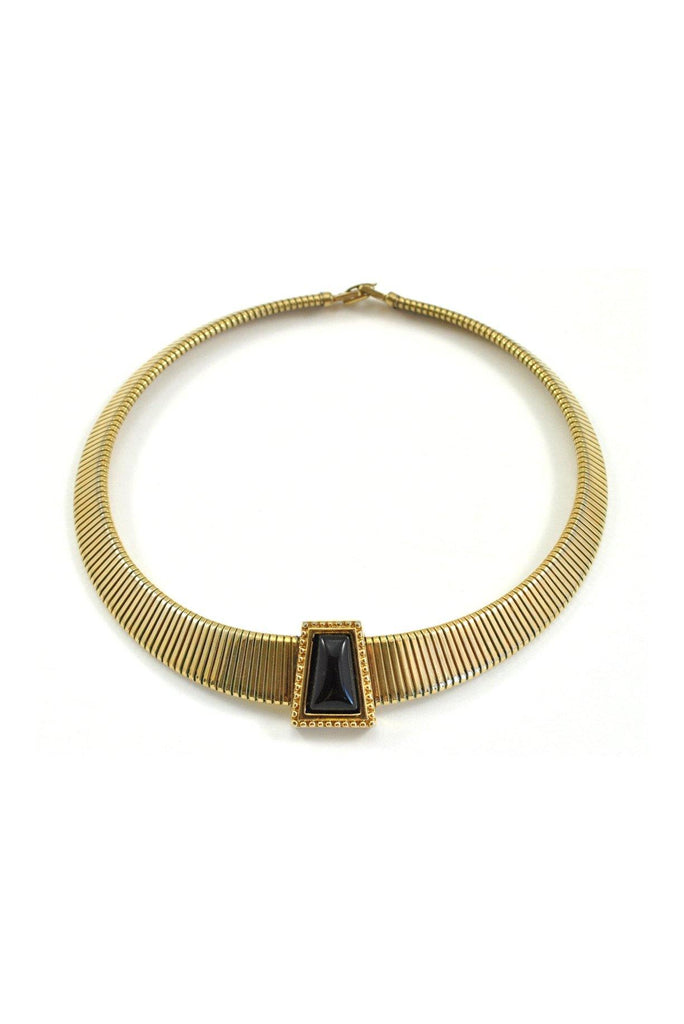 80's__Monet__Stone Choker Necklace