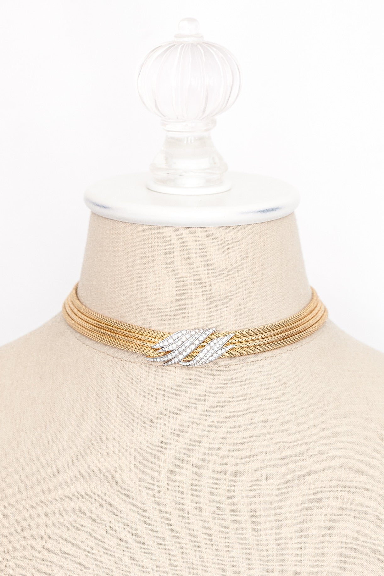 50's__Trifari__Choker Statement Necklace