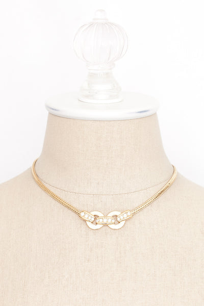 90's__Monet__Love Knot Choker Necklace