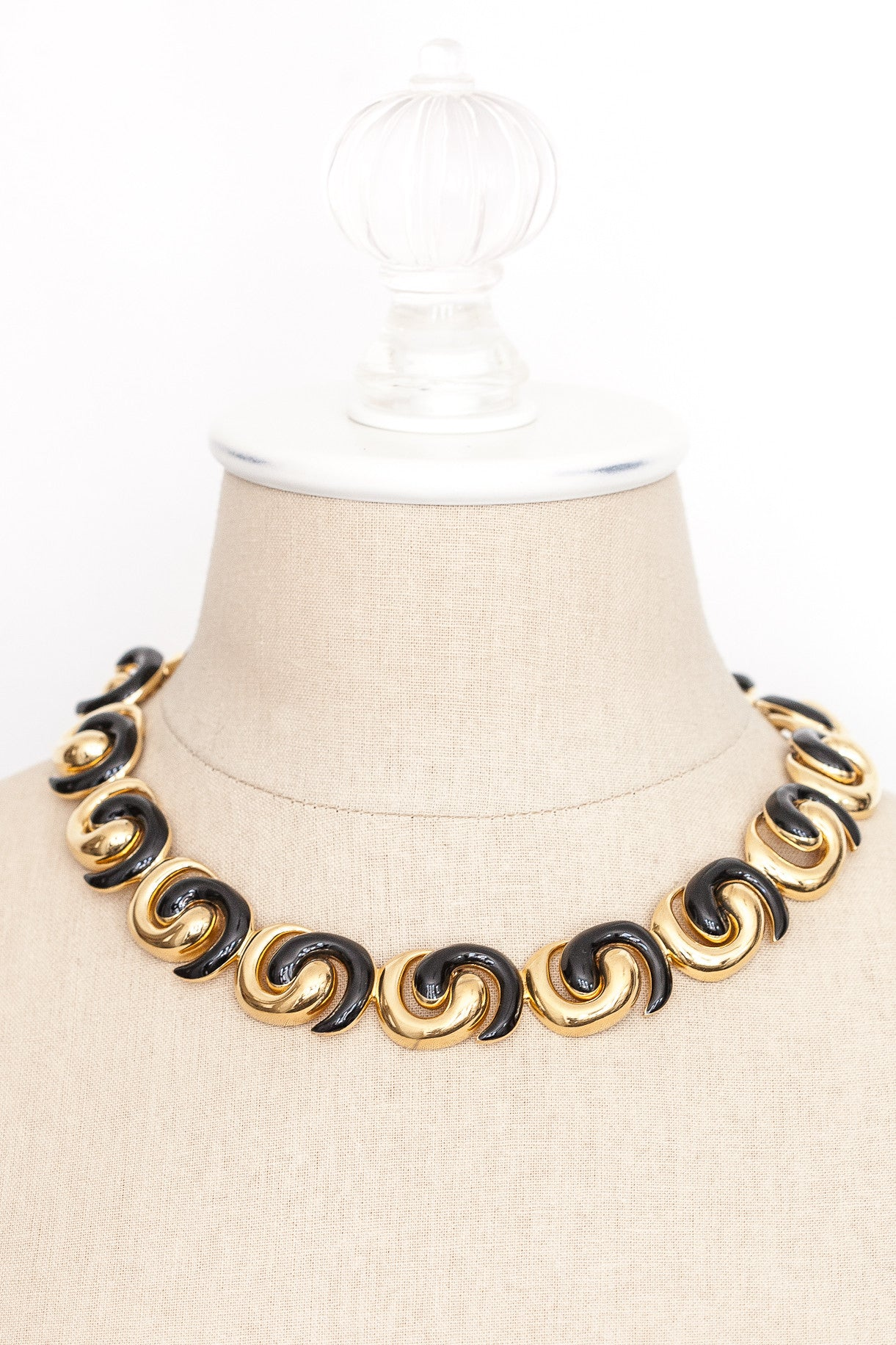 80's__Monet__Chunky Swirl Necklace