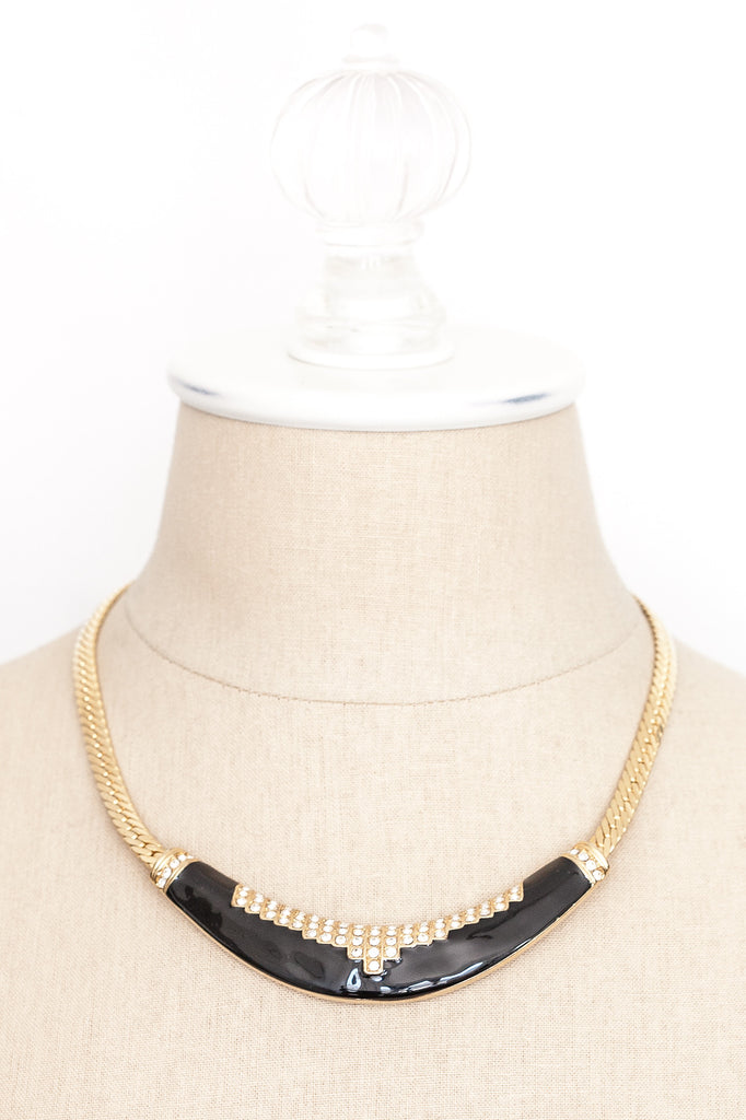 80's__Park Lane__Statement Bar Necklace
