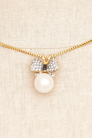 70's__Dugal__Pearl Bow Necklace