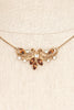 70's__Van Dell__Rhinestone Pendant Necklace