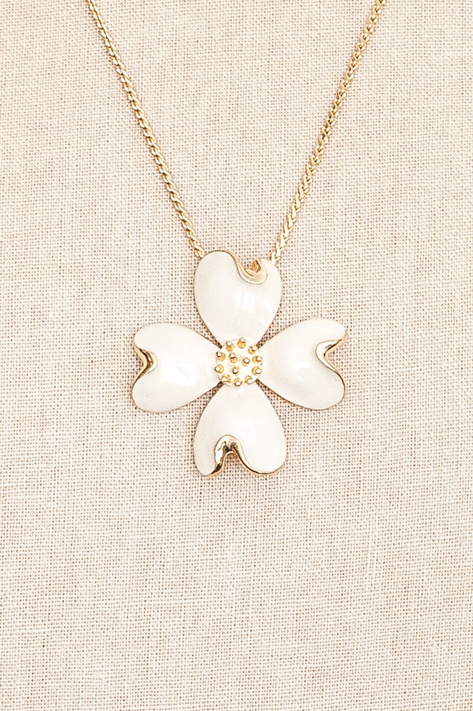 60's__Vintage__Floral Enamel Necklace