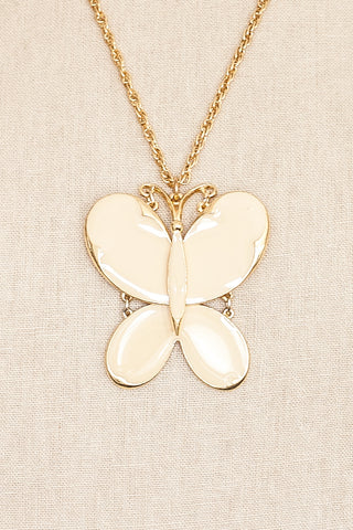 60's__Art__Butterfly Pendant Necklace