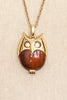 60's__Trifari__Owl Pendant Necklace