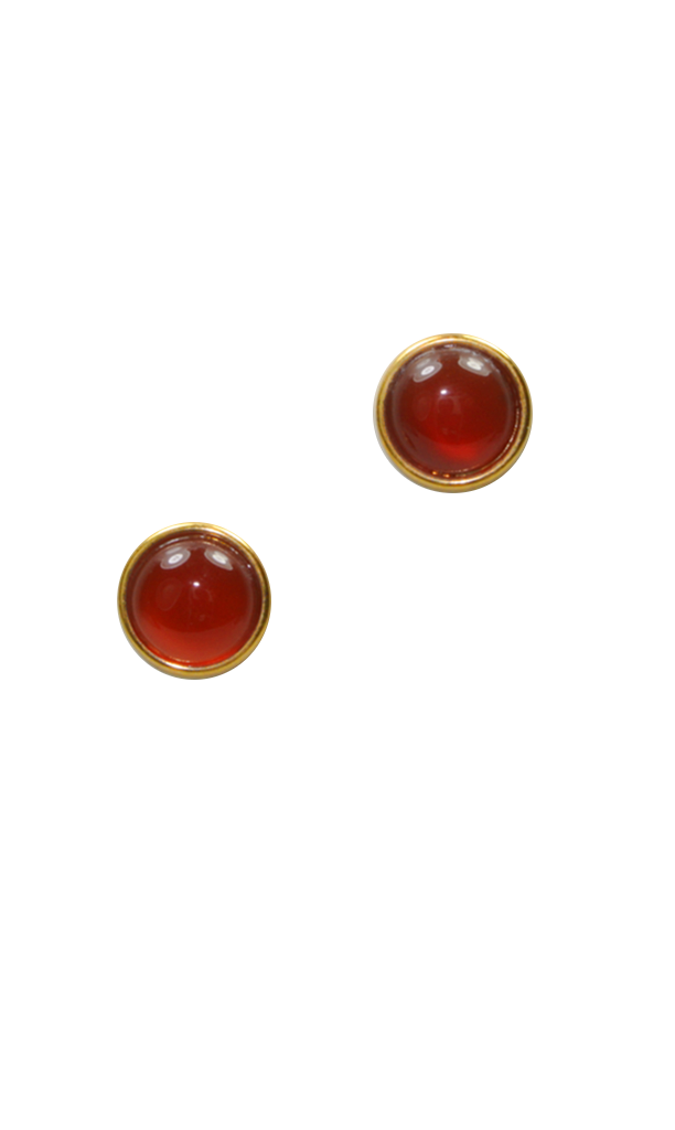 60's__Vintage__Amber Cabochon Studs
