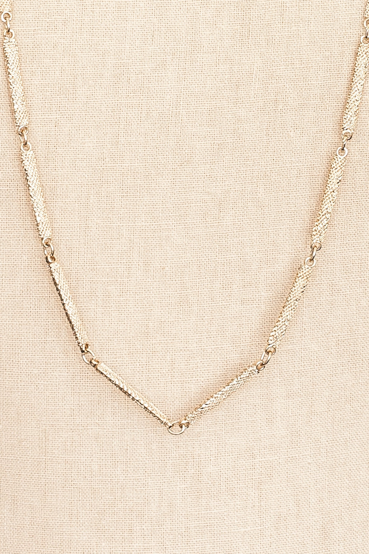 80's__Trifari__Rectangle Chain Necklace