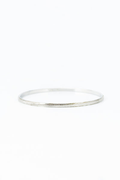 70's__Trifari__Skinny Silver Bangle