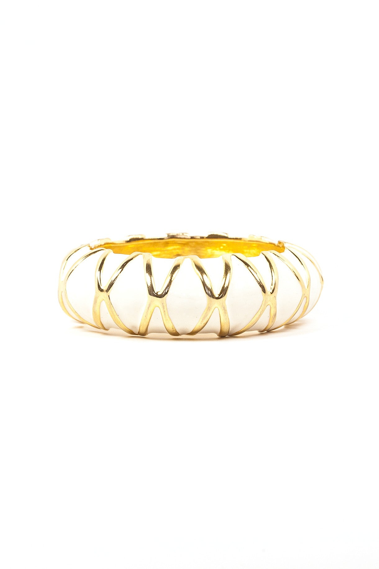 80's__Kenneth Jay Lane__Cream Bangle