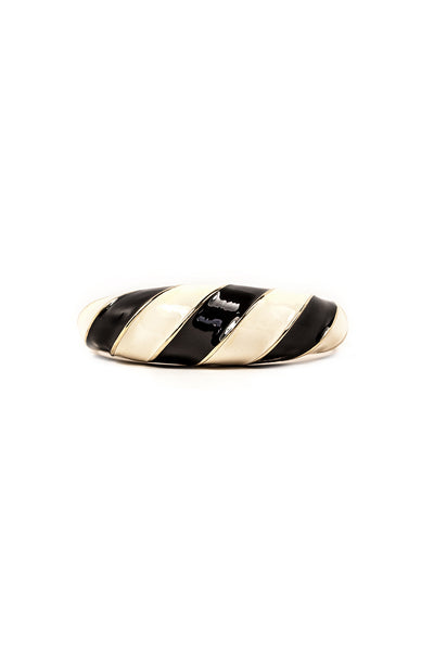 60's__Vintage__Black and White Enamel Cuff