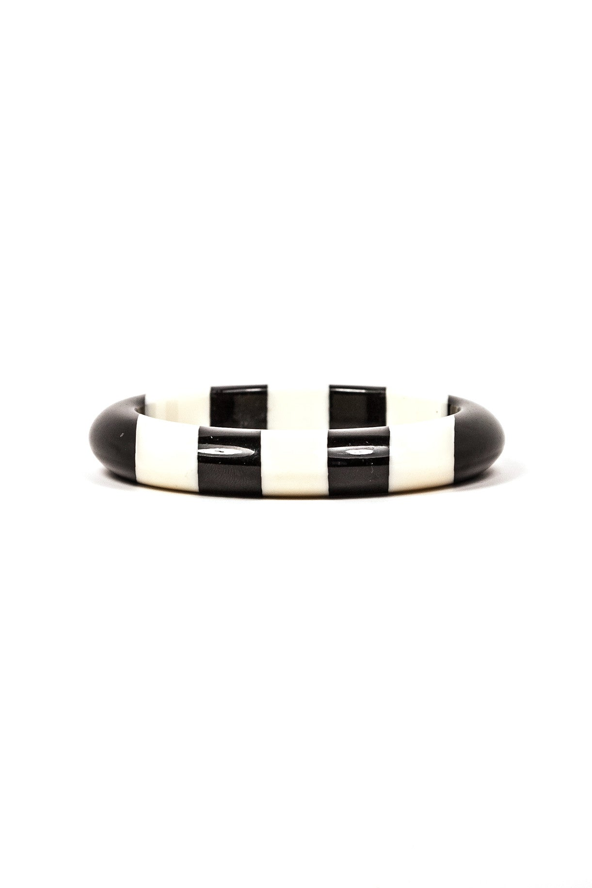 60's__Vintage__Black and White Bangle