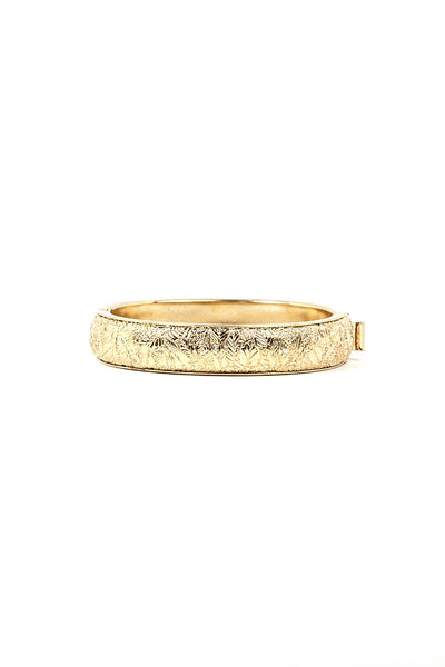 70's__Monet__Etched Foral Bangle