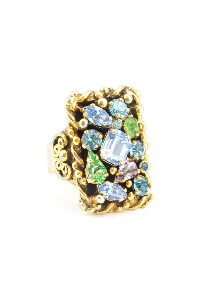 60's__Barclay__Rhinestone Statement Ring