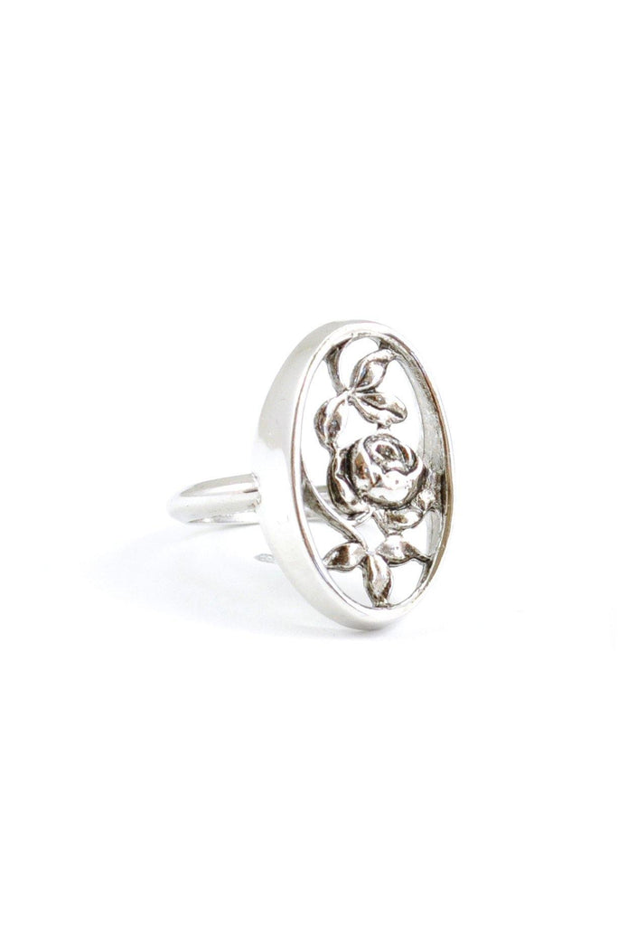 80s__Avon__Silver Floral Ring