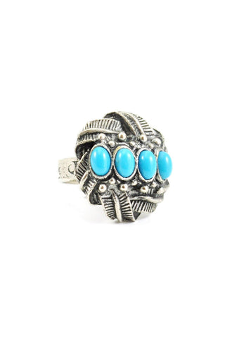 70s__Vintage__Turquoise Cocktail Ring