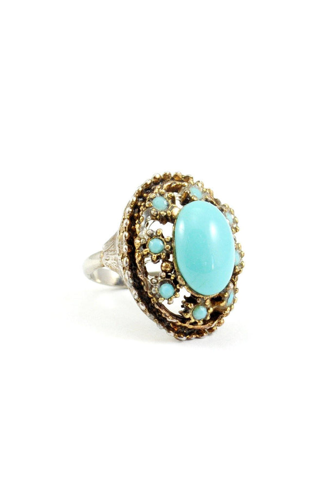 60s__Vintage__Turquoise Cocktail Ring