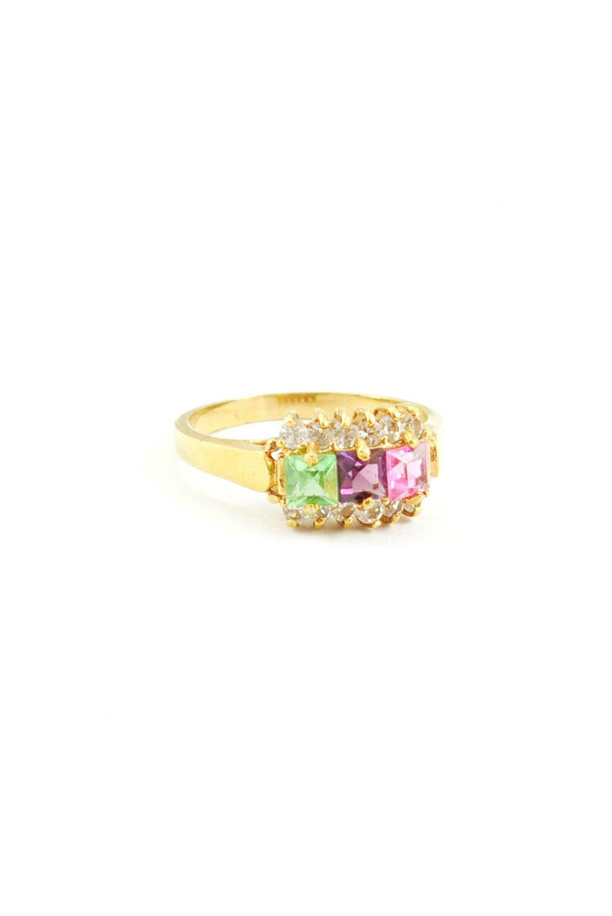 80s__Vintage__Multi Color Jewel Ring