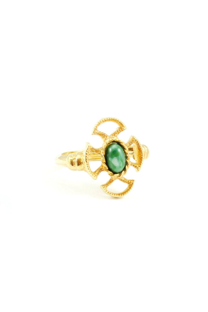 80s__Avon__Jade Cross Ring