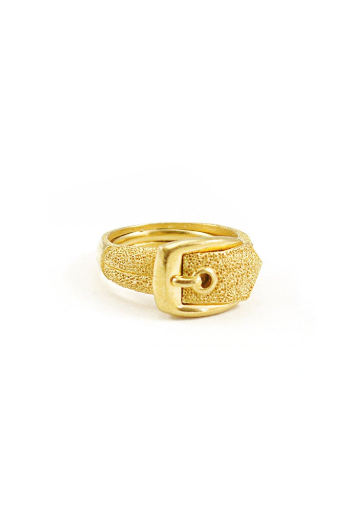 60s__Trifari__Rare Gold Buckle Ring