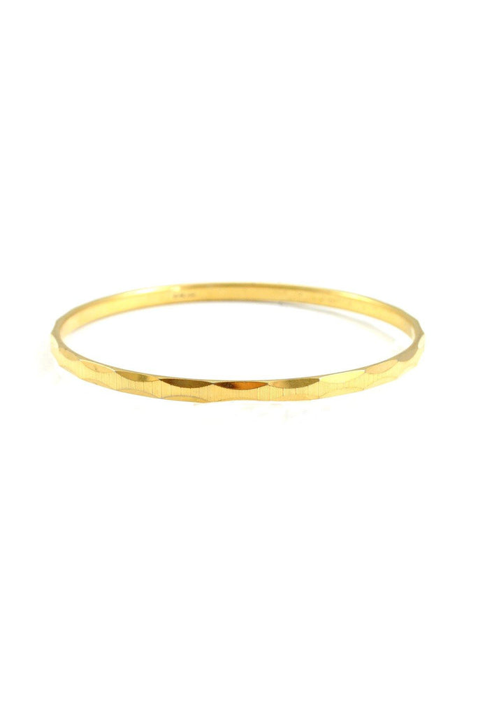 70's__Monet__Etched Gold Bangle