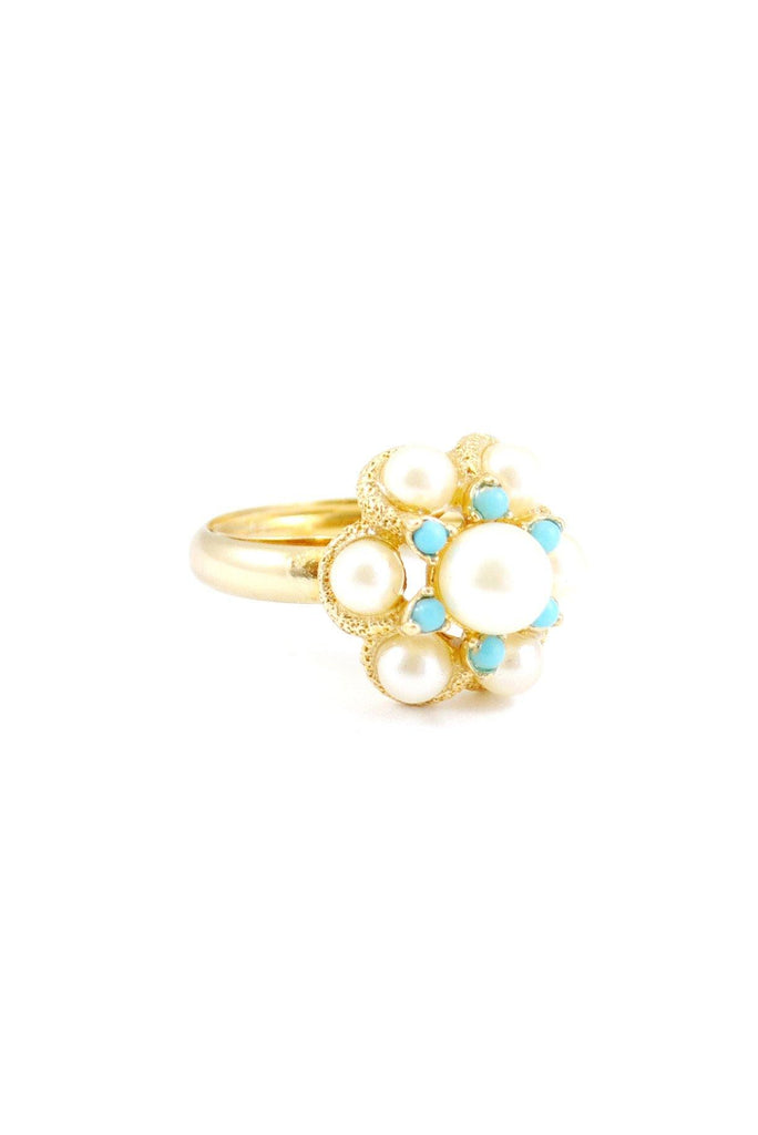 80s__Avon__Pearl Cocktail Ring