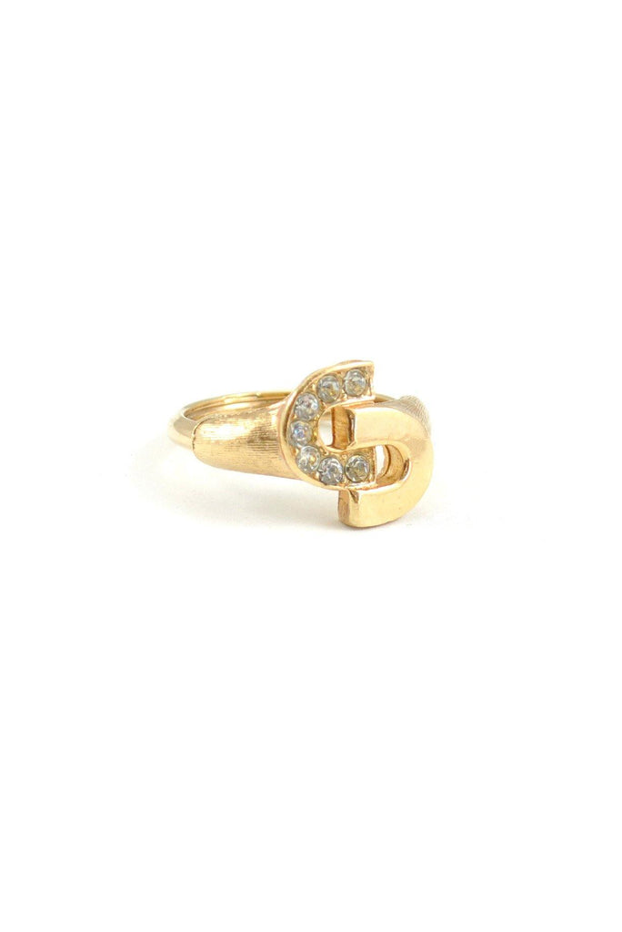 80s__Avon__Rhinestone Linked Ring