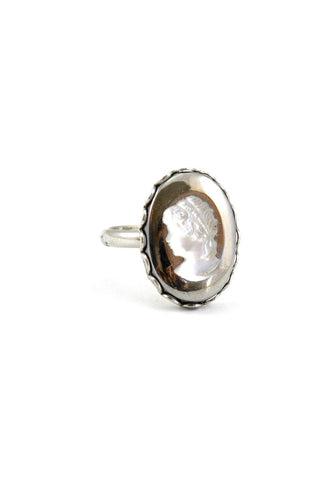 50s__Vintage__Grey Cameo Ring