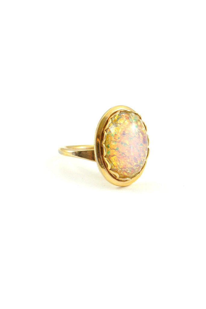 60's__Vintage__Opal Cocktail Ring