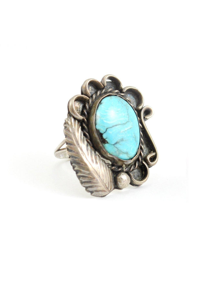 50s__Vintage__Sterling Silver Turquoise Ring