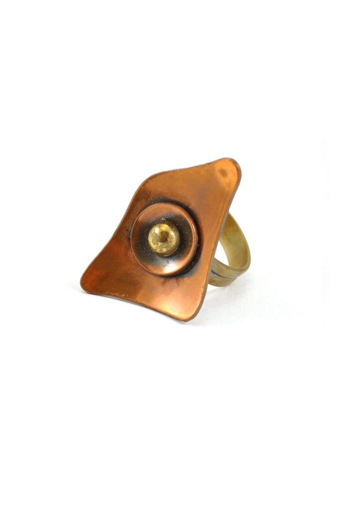 60s__Vintage__Copper Deco Ring