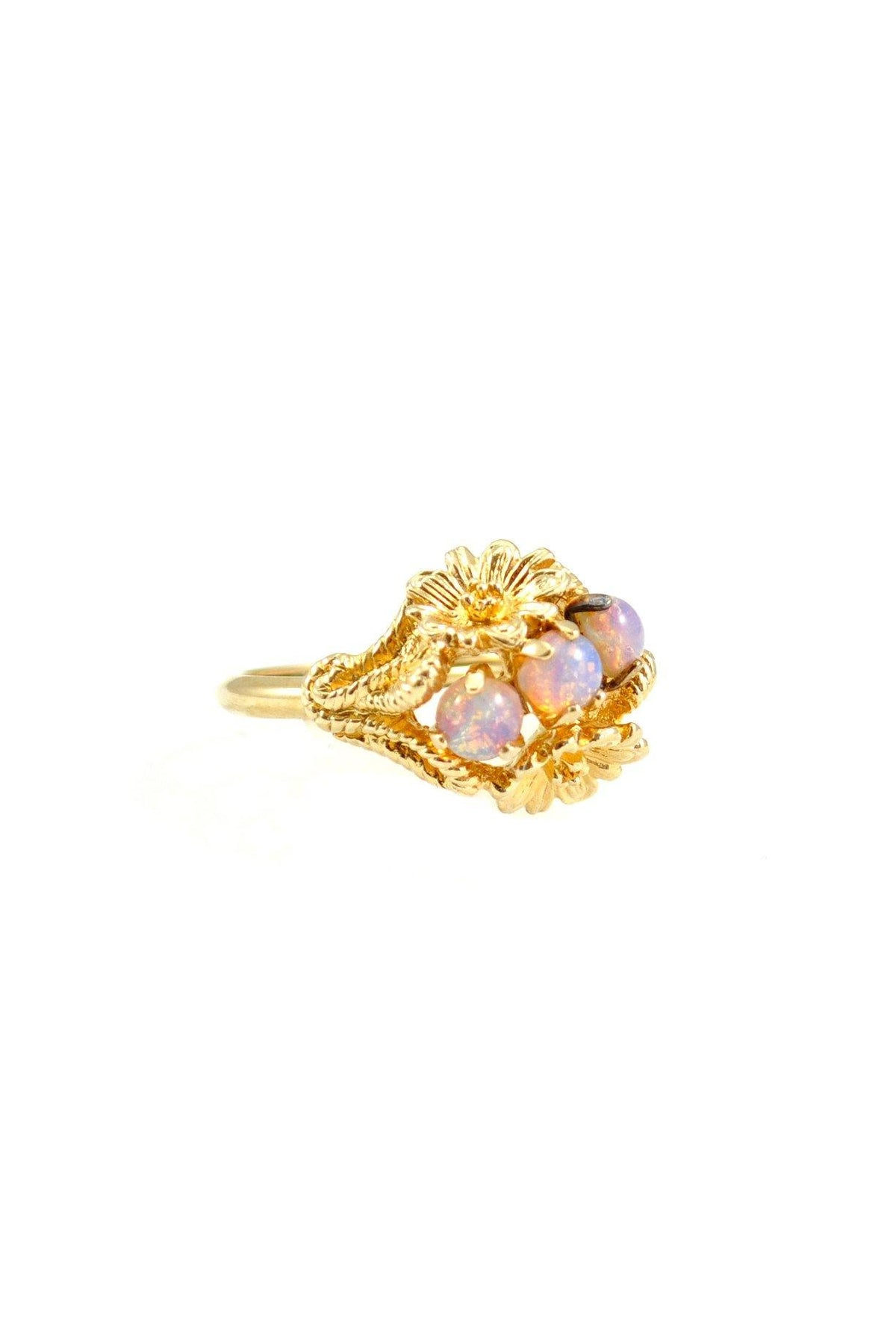 70s__Vintage_Opal Feather Ring