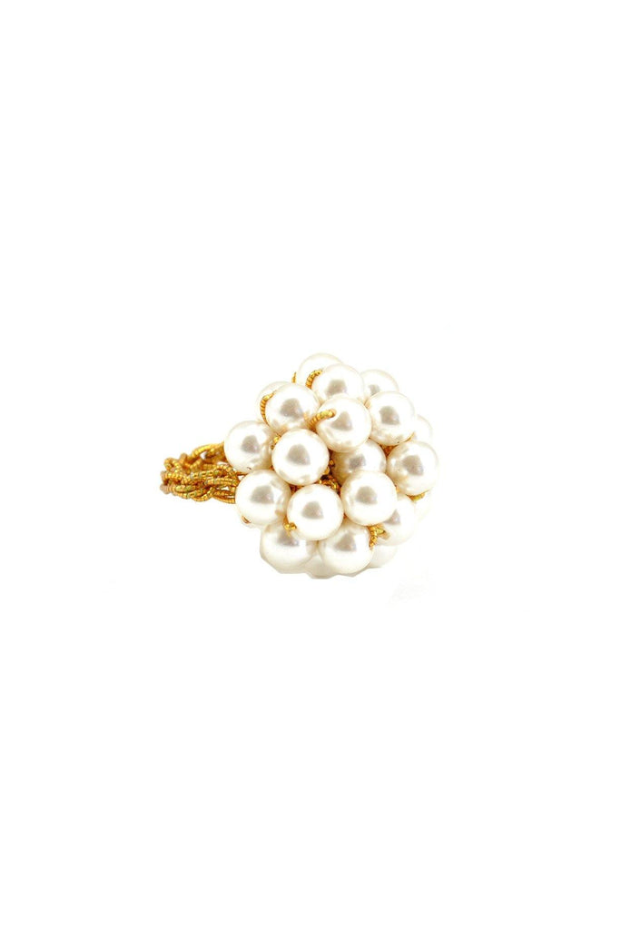 70's__Vintage__Pearl Bauble Ring
