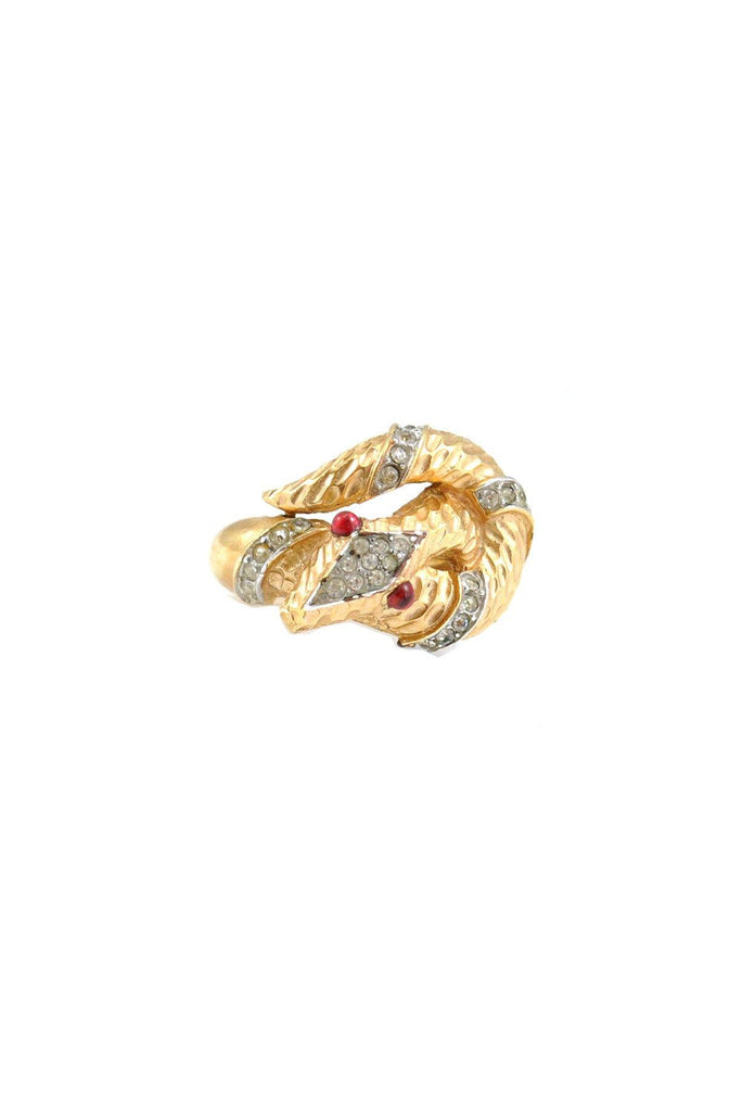 50s__Trifari__Rare Snake Ring