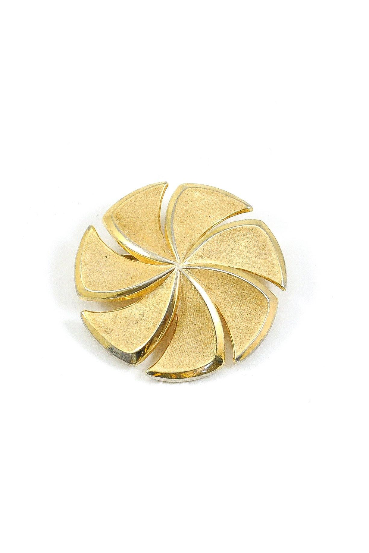 50's Trifari Gold Swirl Brooch
