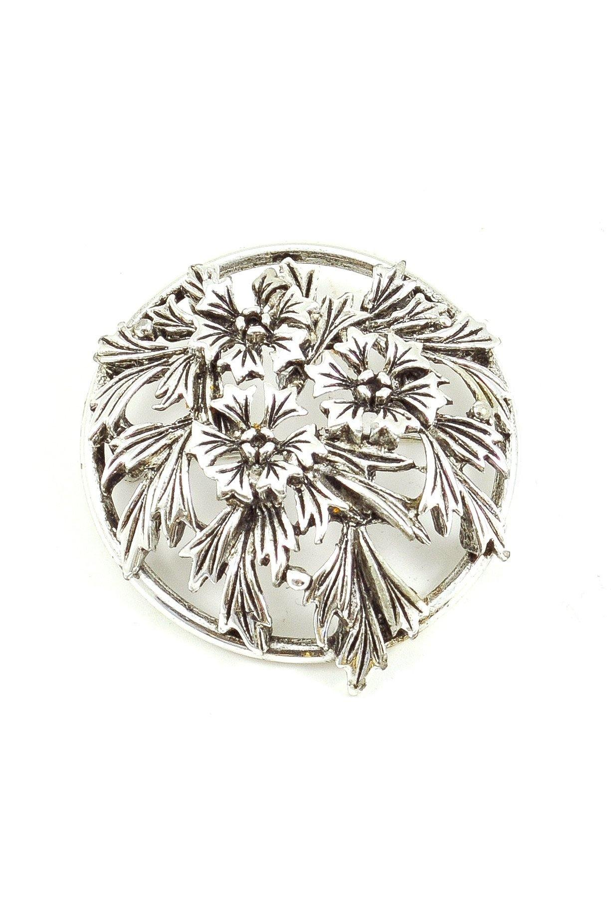 60s__Judy Lee__Silver Floral Brooch