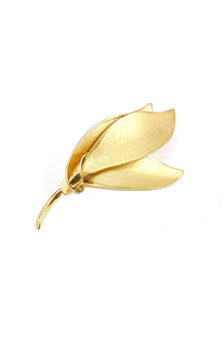 70s__Vintage__Gold Feather Brooch