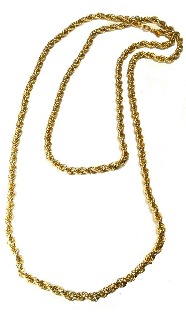 80's__Monet__Classic Rope Chain