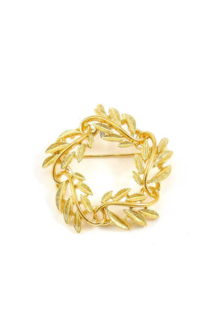 80s__Napier__Feather Wreath Brooch