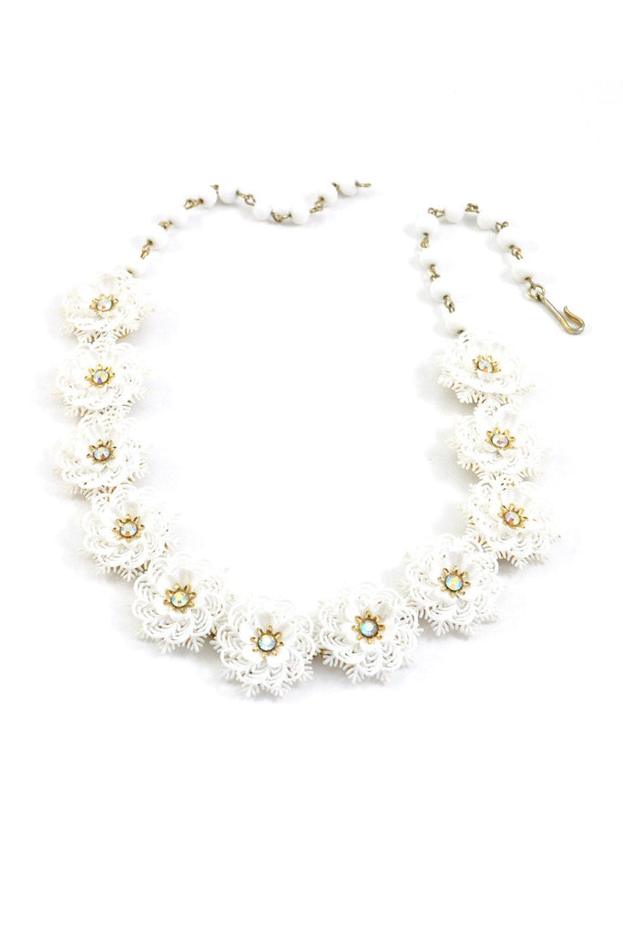 50's__Coro__Floral Statement Necklace