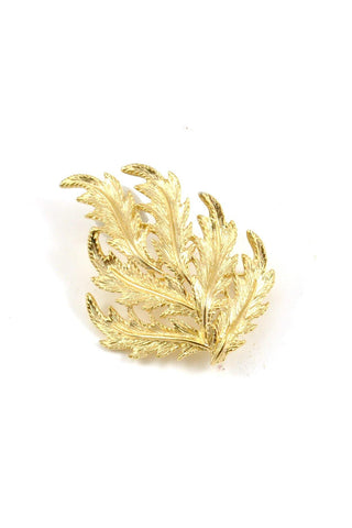 60's__Vintage__Gold Feather Brooch