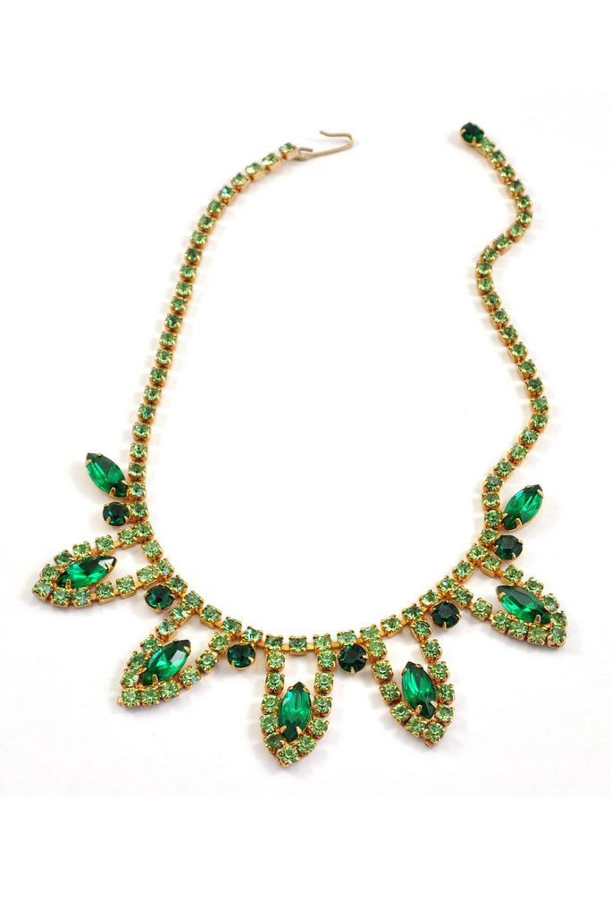 60's__Vintage__Emerald Statement Necklace