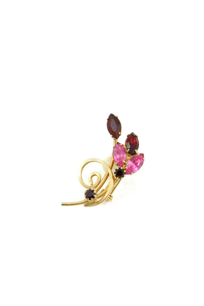 50s__Vintage__Red and Pink Mini Brooch