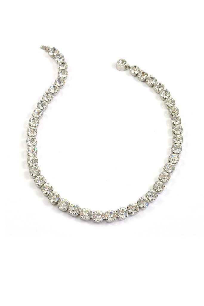 60's__Vintage__Classic Rhinestone Necklace