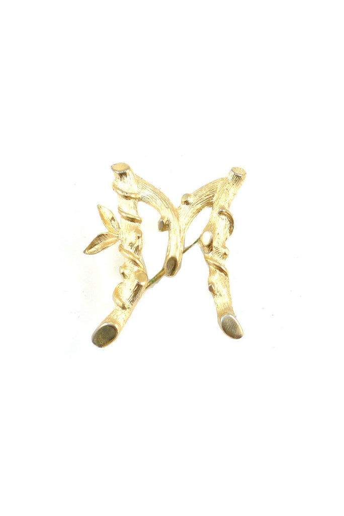 60s__Sarah Coventry__M Bamboo Brooch
